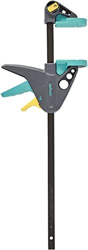 Wolfcraft EHZ 65-300 mm Einhandzwinge PRO 3457000 / Kraftvolle Zwinge für professionelle Arbeiten zum Spannen von Werkstücken mit nur einer Hand / Spannkraft: 90 kg - Spannweite: 300 mm