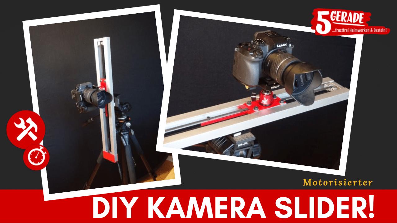 Diy Kamera -Slider. Selber bauen mit elektr. Motor.