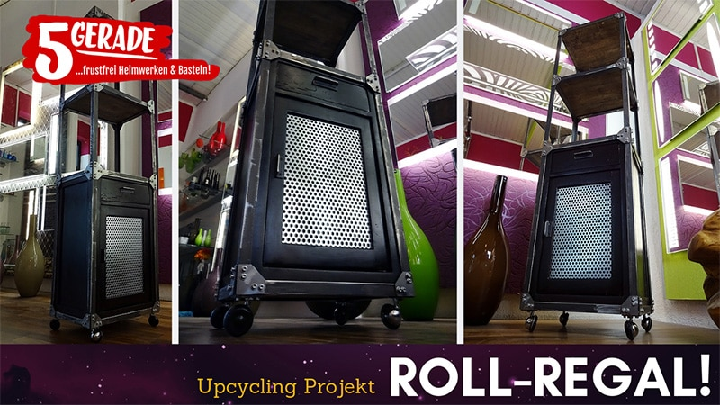 DIY upcycling Regal im Industrial - Design selber machen