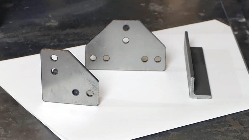 Winkel-Verbinder aus Stahl zum Anfertigen von Möbeln ohne Schweißen
