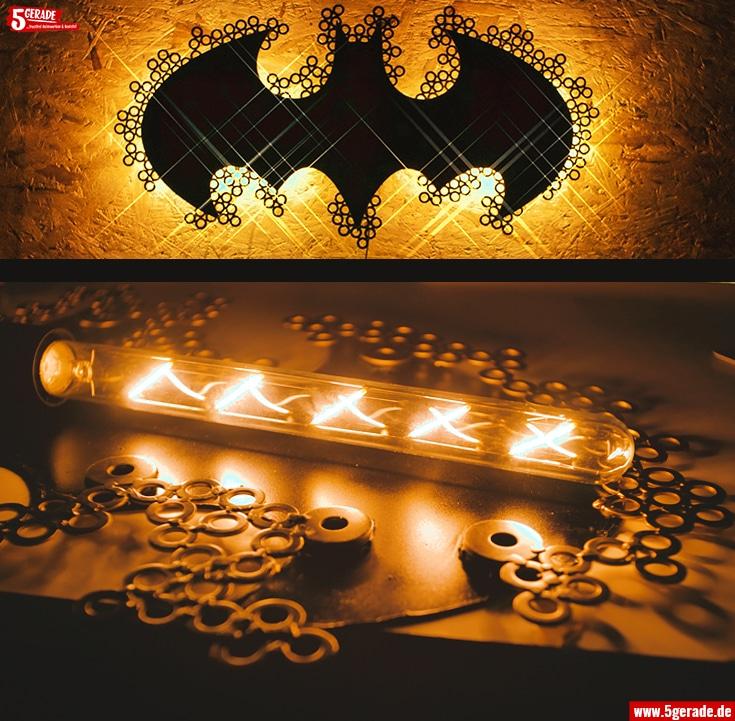 diy lampe LED batman schöne schattenspiele indirekte beleuchtung