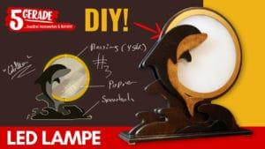 LED Tischlampe aus Holz selber bauen