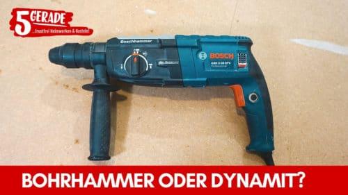 Bohrhammer oder Schlagbohrmaschine