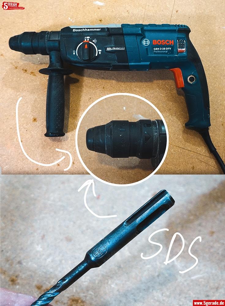 Der Bohrhammer hat eine SDS Aufnahme. Schlagbohrmaschinen nicht.