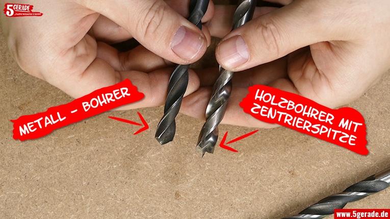 Holzbohrer und Metallbohrer. Wo ist der Unterschied?