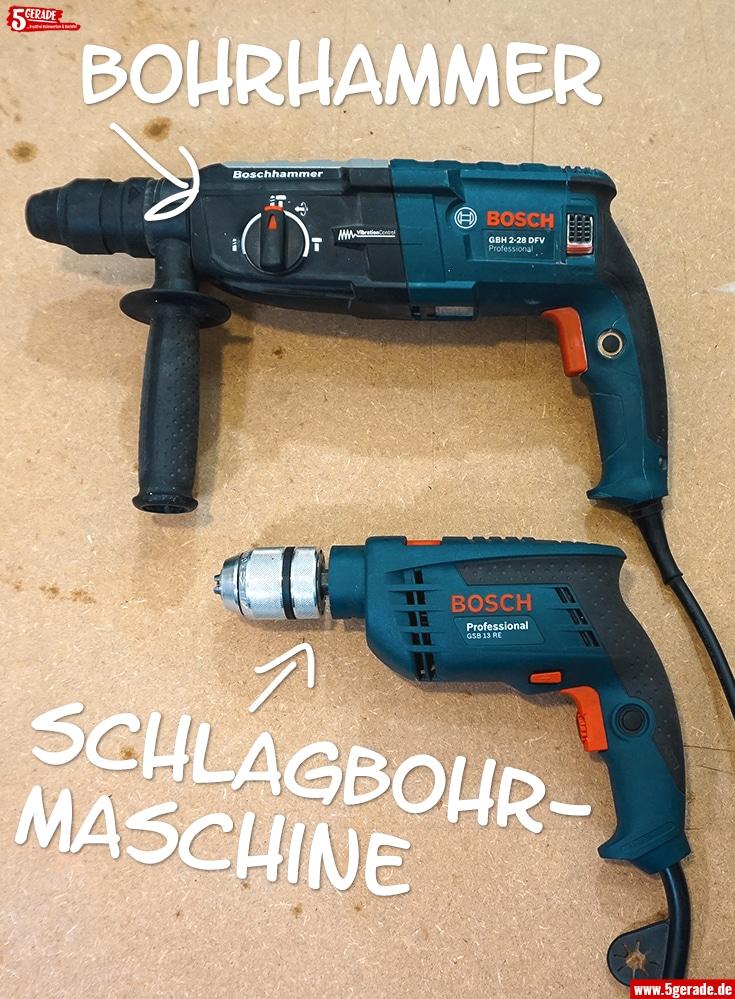 Schlagbohrmaschine oder Bohrhammer wo ist der Unterschied?