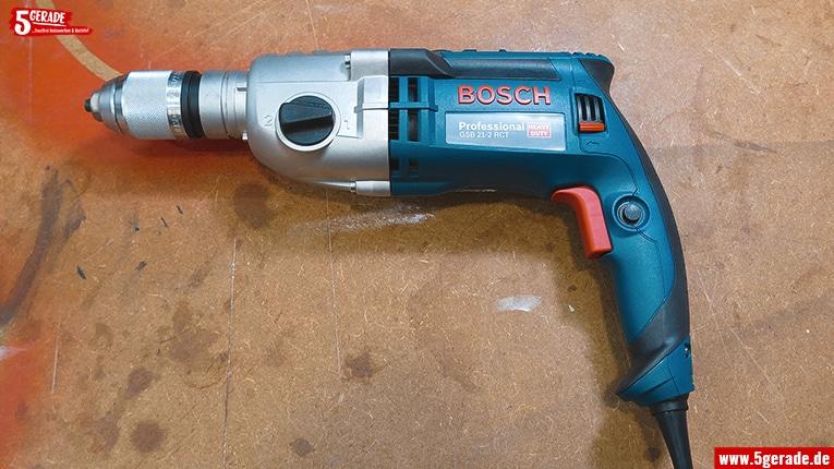 Die Bosch GSB 21-2 RCT. Die optimale Bohrmaschine für den Bohrständer.