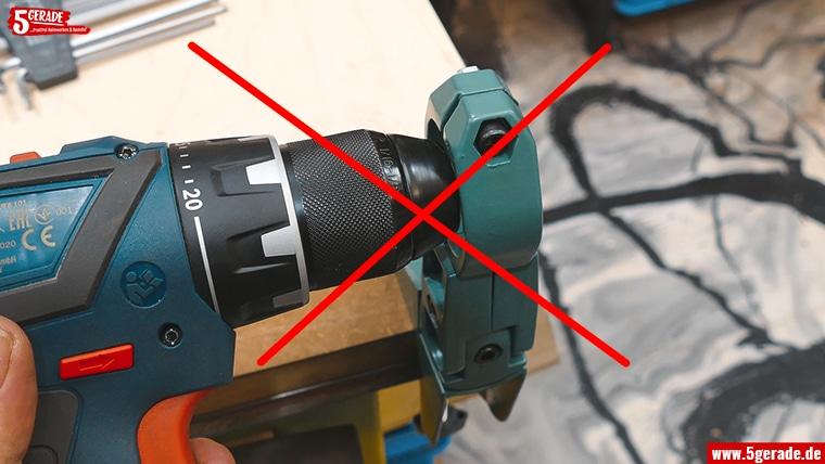 Akkuschrauber passen nicht in Bohrständer Eurohals 43mm