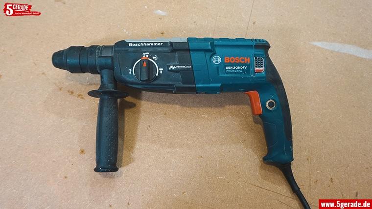 Der Bohrhammer hat keine Angst vor Beton